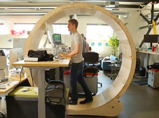 Conquer The Office Rat Race With A DIY Human Hamster Wheel Desk