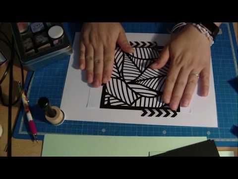 Tuto Scrap 7 Carte Facile Distress Pochoir Action Youtube