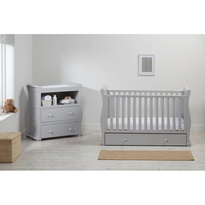 Alaska Cot 2 Piece Nursery Furniture Set Cribs