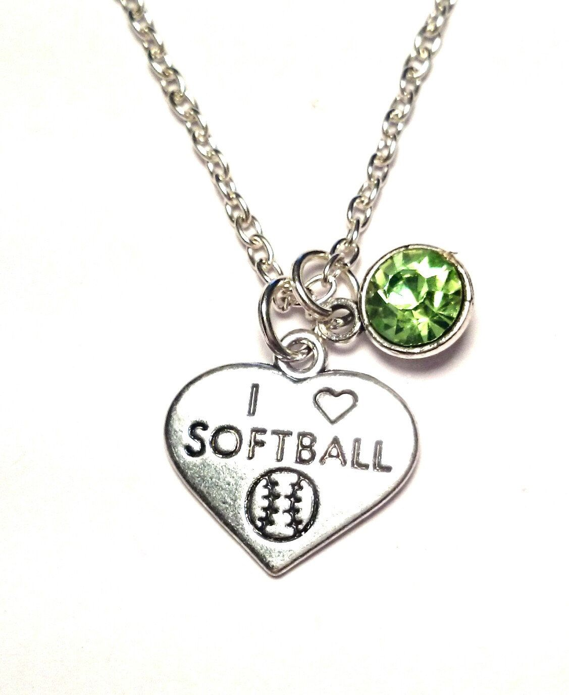sb jewelry silver softball gimmedat love necklace products customizable