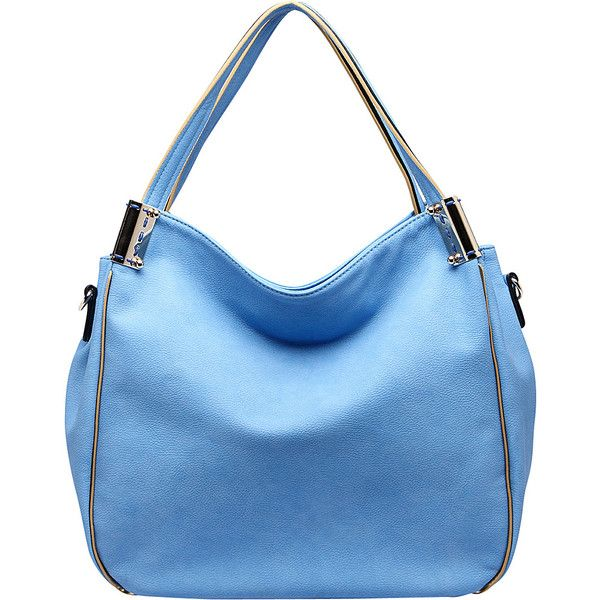 Mkf Collection Heather Hobo Bag (10.485 HUF) ❤ liked on Polyvore featuring bags, handbags, shoulder bags, blue, faux leather handbags, blue purse, pocket purse, faux leather purses and faux leather shoulder bag