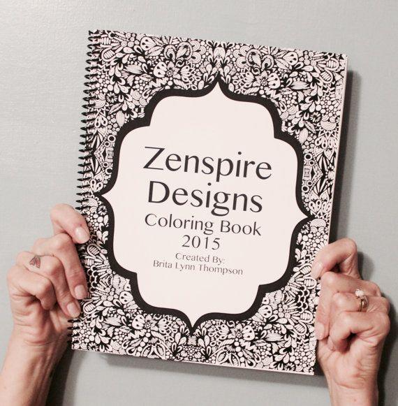 Zenspire Designs Coloring Book By ZenspireDesigns On Etsy