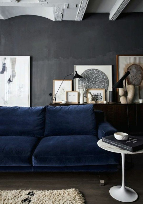 Colorful Wall Color To Choose For Your Very Personal Project Grey Couch Blue Walls Living Room Decor Blue Sofa White Walls Living Room