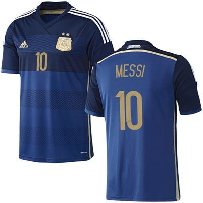 Messi  10 Argentina adidas 2014 World Soccer Replica Away Jersey - Pride Ink bd3129a49