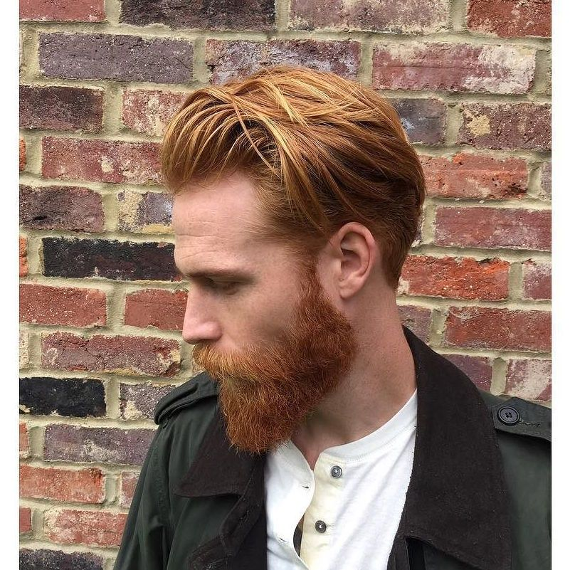 Red Mens Long Wavy Haircut Jpg