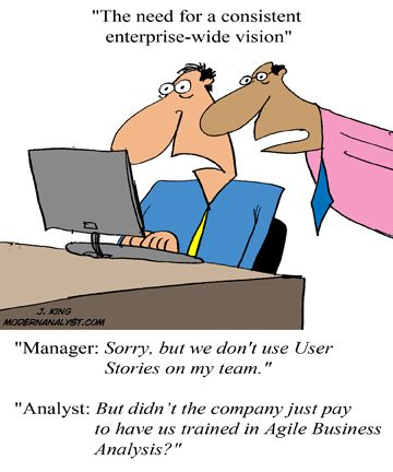 Humor - Cartoon The Need for Consistent Enterprise-Wide Vision on - company analysis