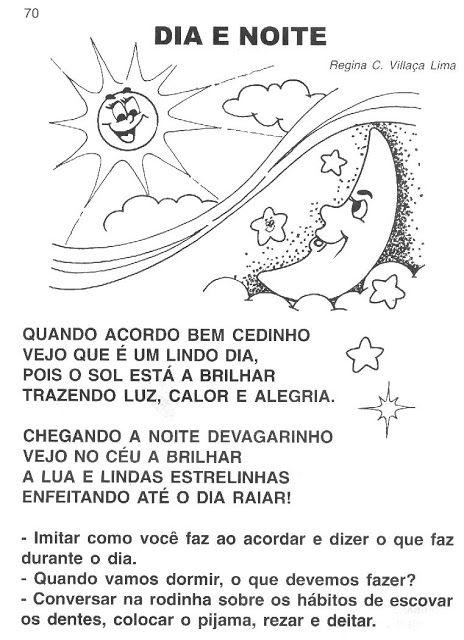 Atividades para trabalhar o tema DIA E NOITE com a Educação Infantil! ~ ESPAÇO EDUCAR