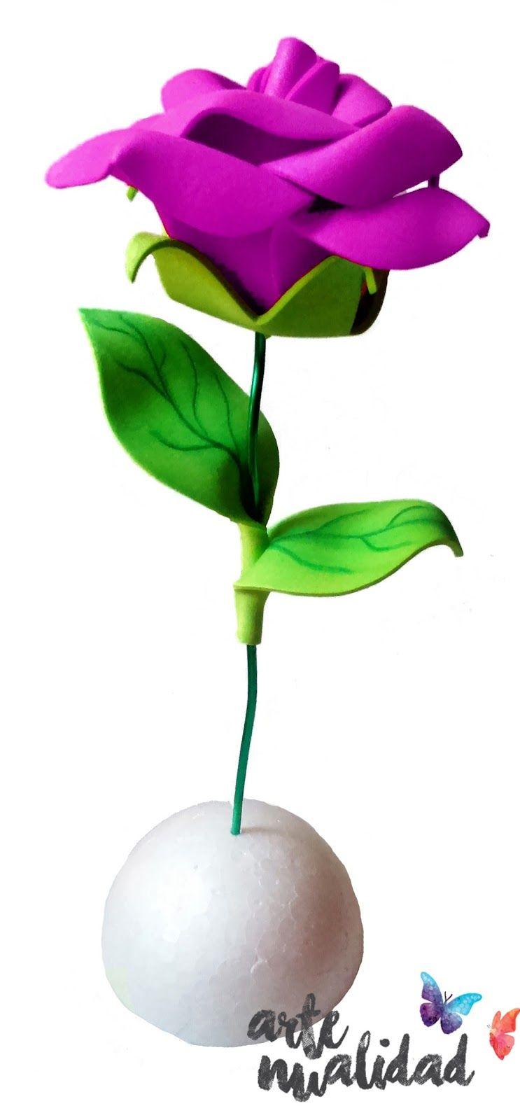 Artenualidad: rosa rosa oscuro. Una rosa que no marchita, para toda ...