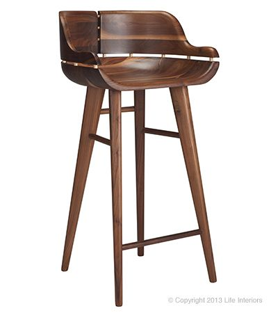 Kurf Counter Stool Solid American Walnut Stools