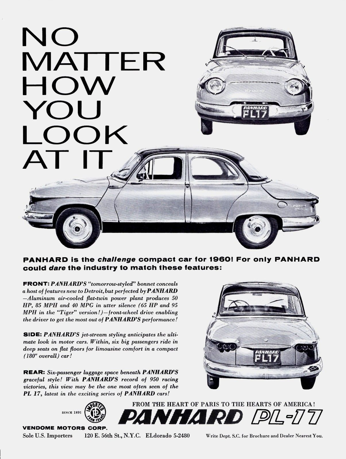 Panhard PL-17 1960, for the U.S.
