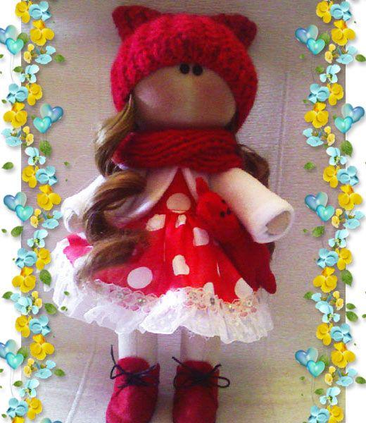 Интерьерная текстильная кукла ручной работы. Одежда не ...