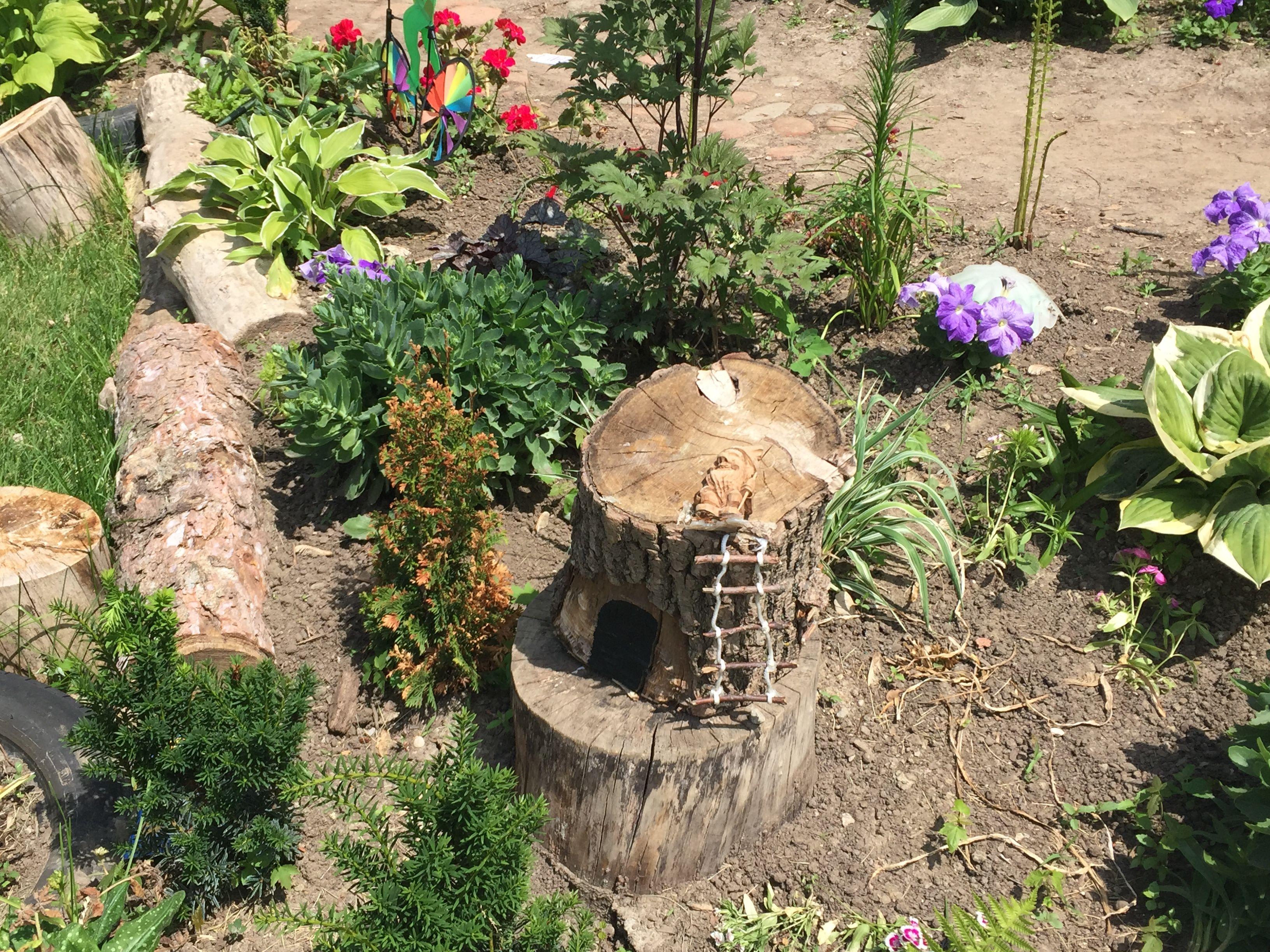 up close to fairy garden at Bromsgrove!