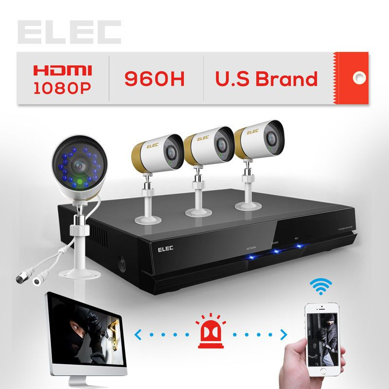 ELEC® 8CH Channel HDMI DVR Outdoor CCTV 960H Surveillance Security ...