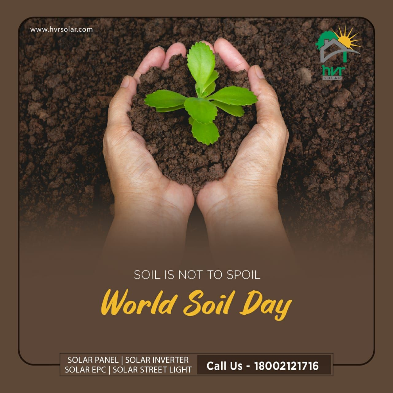 #Soil gives us food, soil gives us life!  Prevent #soilpollution if you want a healthy #future. . . . #WorldSoilDay #SoilDay2019 #LiveGreen #SoilisLife #StopSoilErosion #LivingSoil #SoilForLife #SaveEnvironment #SolarPower #GreenEnergy #SolarEnergy #SunEnergy #GoGreen #SwitchToSolarPanel #SolarEnergyPanels #SolarEnergyForLife #SolarEnergyWorld #SolarPanels