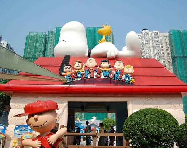 Snoopy's World in New Town Plaza, Sha Tin - Pq não tem um desses no Brasil?