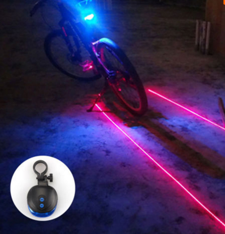 Laser Bike Light Front Rear Safety Warning Bicycle LightB Rechargeable t