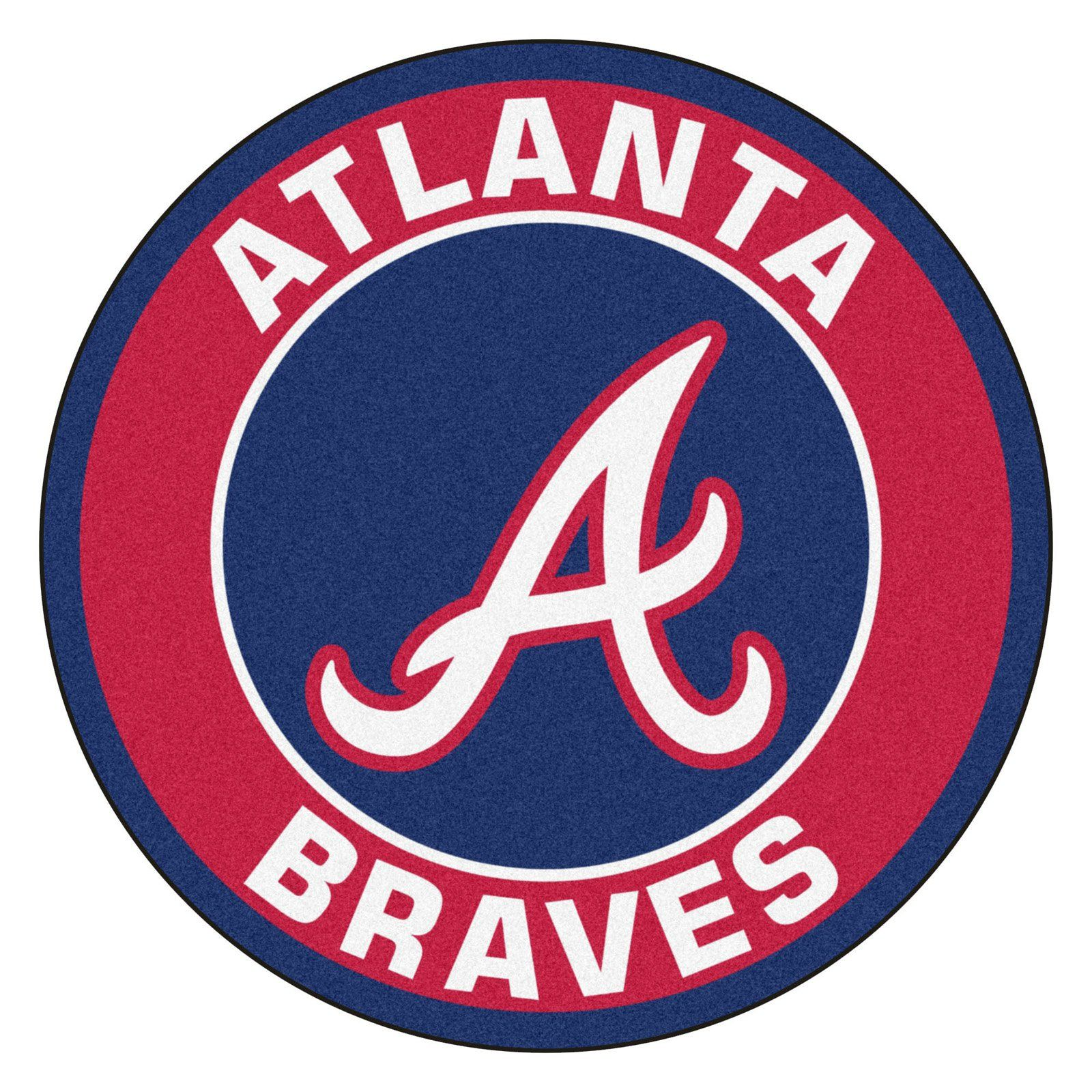 Fan Mats Mlb Baseball Round Indoor Area Rug 2 25 Diam Ft Atlanta Braves Atlanta Braves Logo Braves Baseball