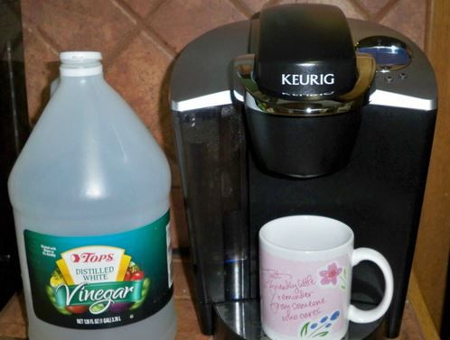 how to clean a one cup keurig with vinegar