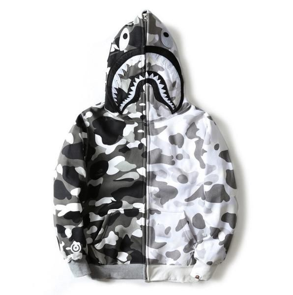 37cd893d63c4 BAPE Cross Camo Snow Shark Hoodie BAPE Cross Camo Snow Shark Hoodie that  have all the tags