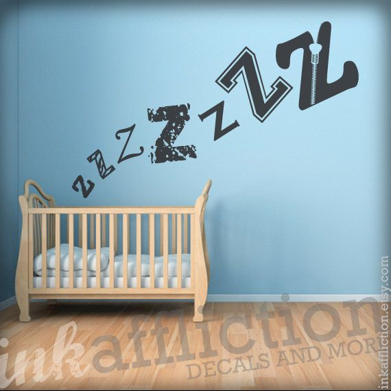 ZZZ Sleeping Babe Wall Decal By Inkaffliction Etsy And Not JUST Extraordinary Etsy Baby Room