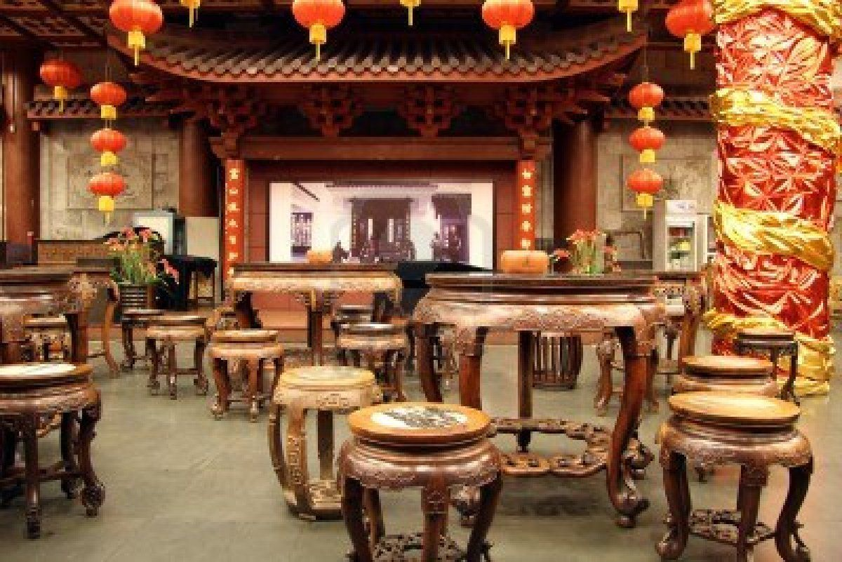 Ancient chinese home interior - Inside Traditional Chinese Tea House In Hangzhou China Stock Tea House In