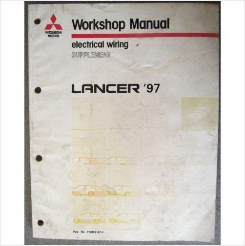 mitsubishi lancer 97 electrical wiring manual phme9107f