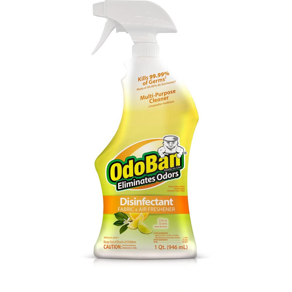 Odoban 32 Oz Ready To Use Citrus Disinfectant Fabric And Air Freshener Mold And Mildew Control Multi Purpose Spray 910601 Q The Home Depot Freshener Spray Air Freshener Freshener