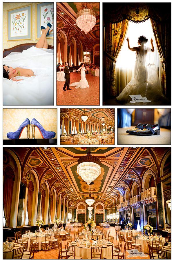 Elegant Toronto wedding shoot at the Royal york Hotel by www.quarum.com