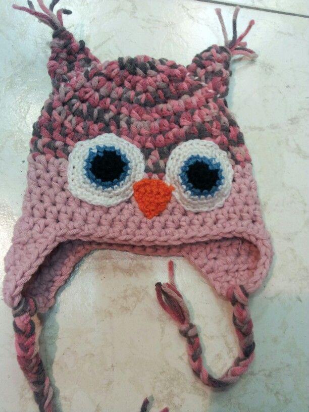 Gorro de Buho en lana matizada a crochet | crochet owls hats ...