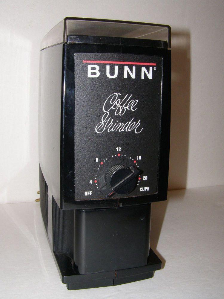 Bunn deluxe coffeegrinder bcg bean black adjustable cups