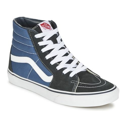Vans - SK8-HI   Noir et bleu marine, Vans bleues, Baskets