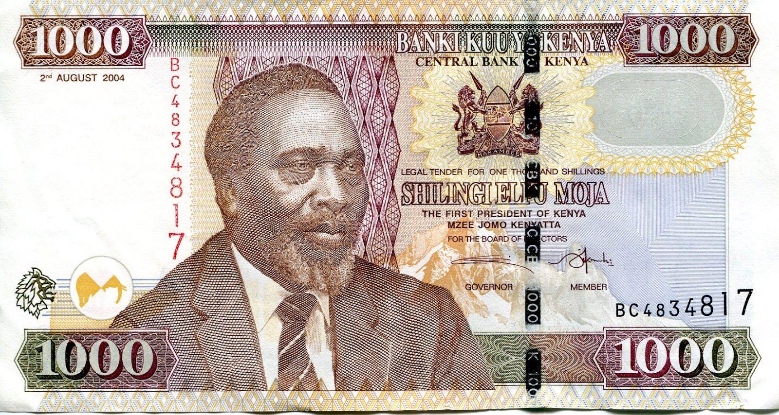 Jomo Kenyatta On A 1000 Kenyan Shilling Note