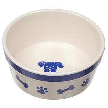 Petco Ceramic Bones & Paws Dog Bowls | My Pet Dream Board