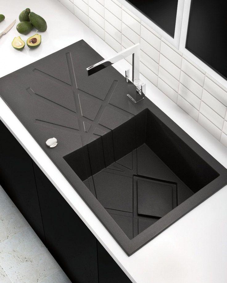Account Suspended Modern Black Kitchen Black Kitchen Sink Kitchen Interior