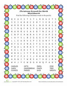 Santa Word Search | Games | Pinterest | Word search, Worksheets and ...
