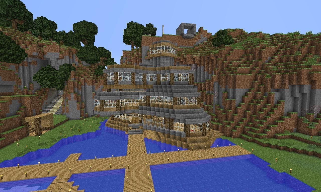 Cool minecraft house! | MINECRAFT | Pinterest