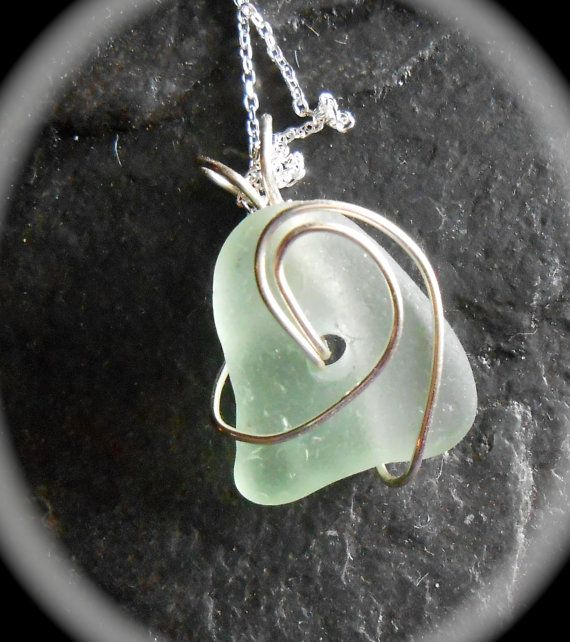 Ride The Wave  Genuine Sea Glass Jewelry  by SeaFindDesigns, $30.00