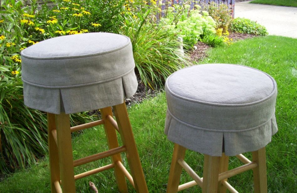 Round Bar Stool Cushions Pertaining To Home Bar Stool Covers Round Bar Stools Bar Stools