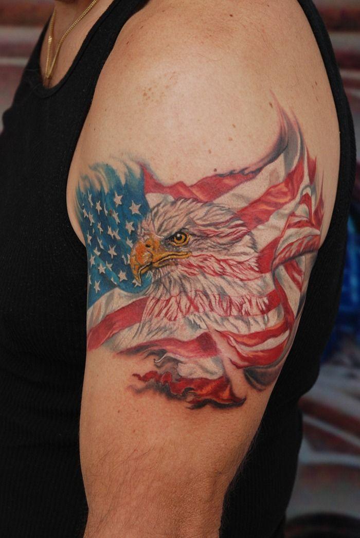 American flag nd eagle