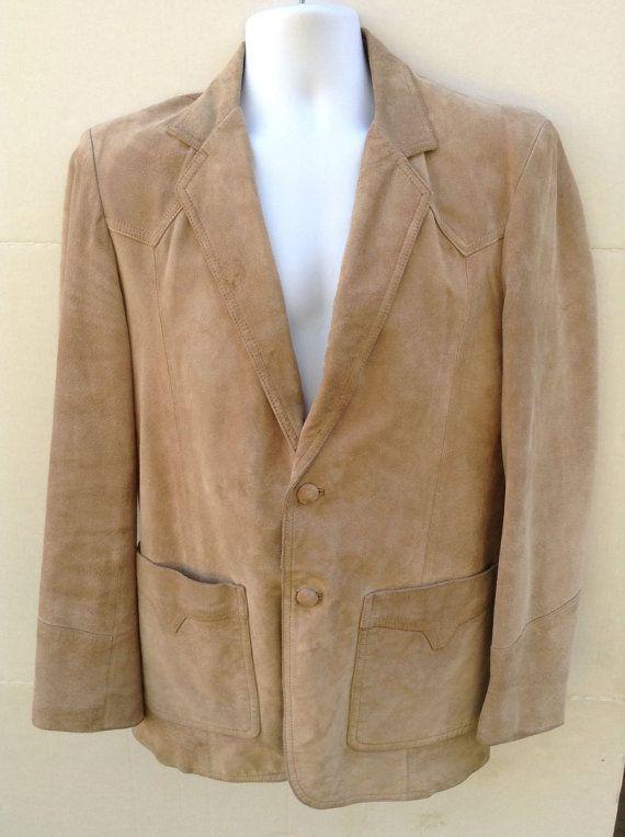 34229f27dfb Vintage 70s Pioneer Wear Mens Tan Suede Leather Western by Jhollas ...