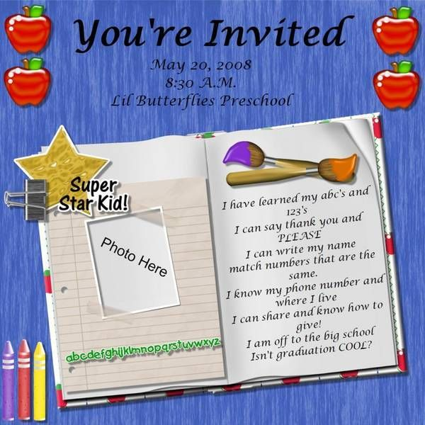 what to say at a preschool graduation preschool graduation poem kid graduations 726