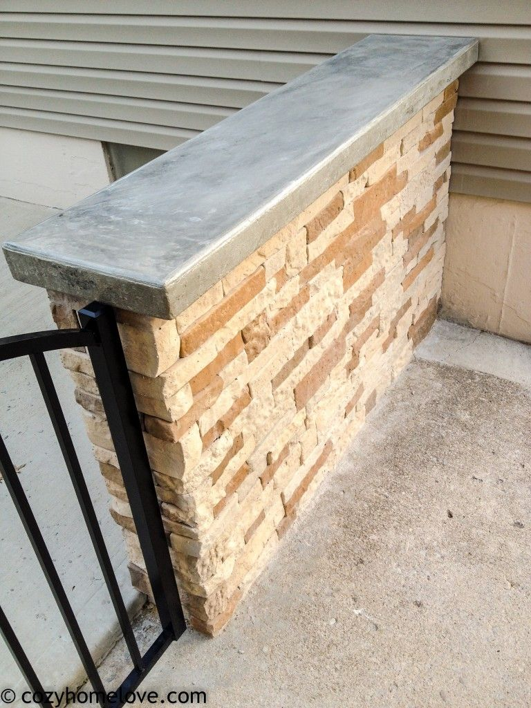 The AirStone Patio Wall   Our Home   Pinterest   Patio wall ...