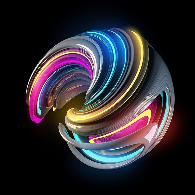 Bend it  #3d #neon #galaxy #nightlife #adobe #photoshop