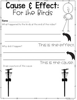 *FREEBIE* Intro to Cause and Effect using For the Birds (A
