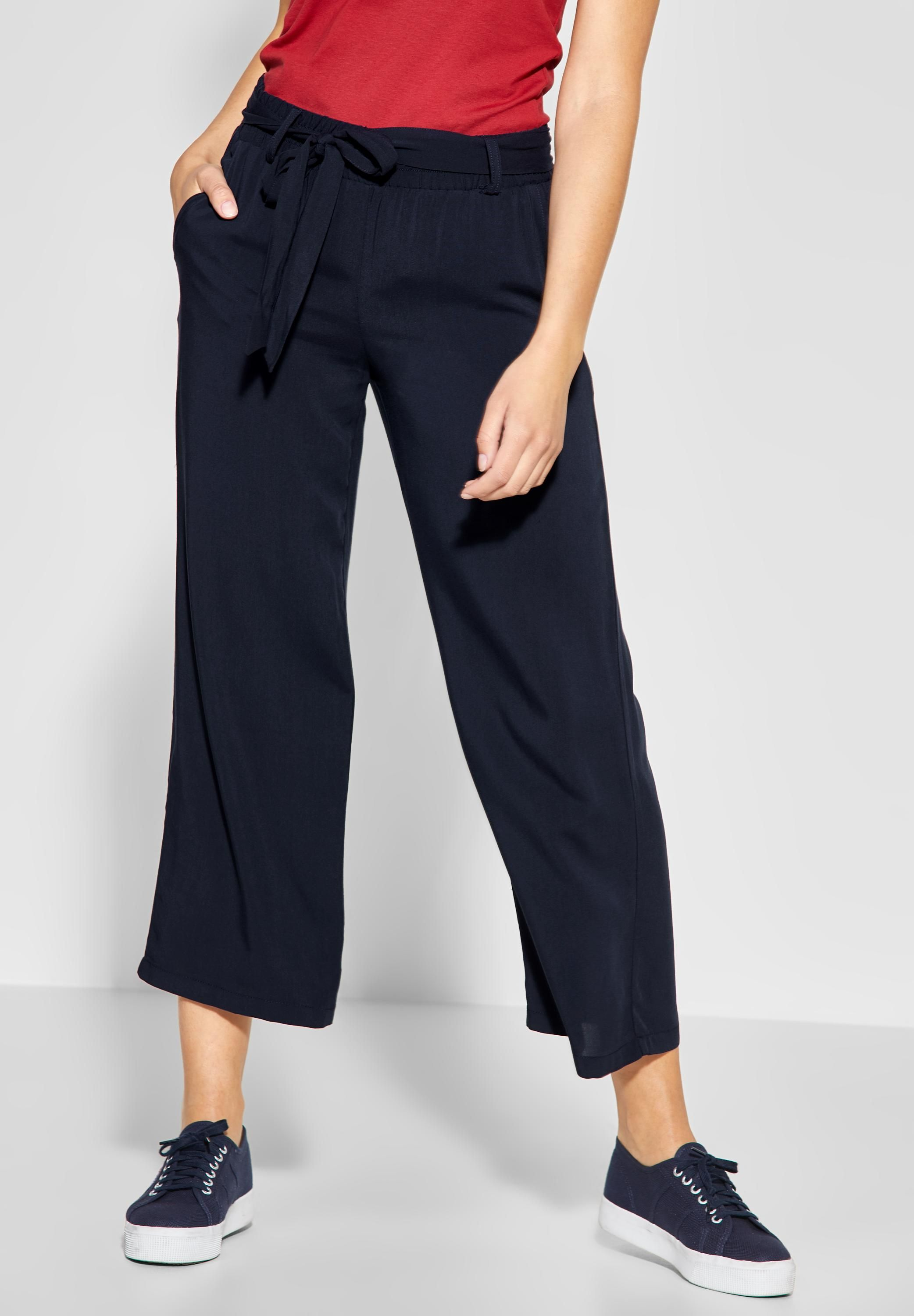 35bc7dbfd4e Street One - Einfarbige Wide Leg Hose in Deep Blue in 2019 | CONCEPT ...