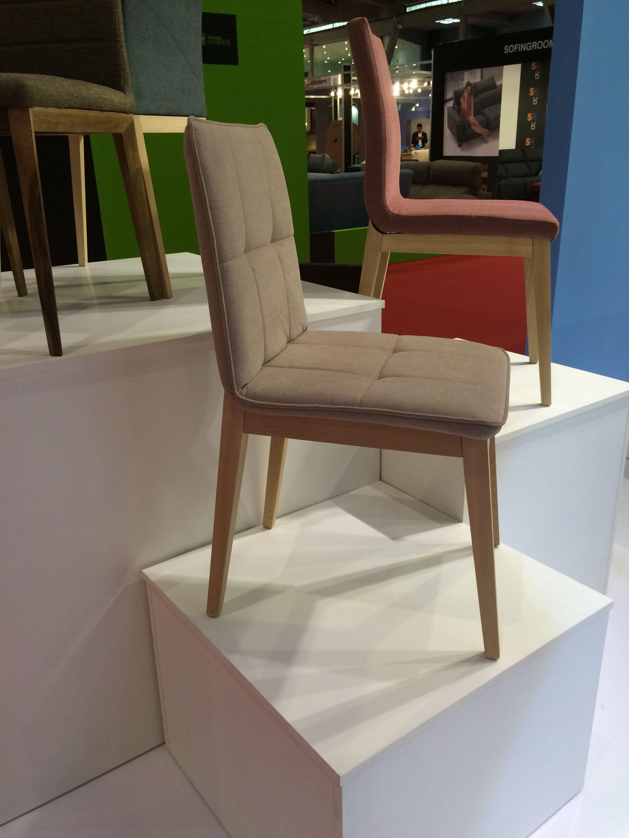 Silla en madera y tapizada sillas Pinterest