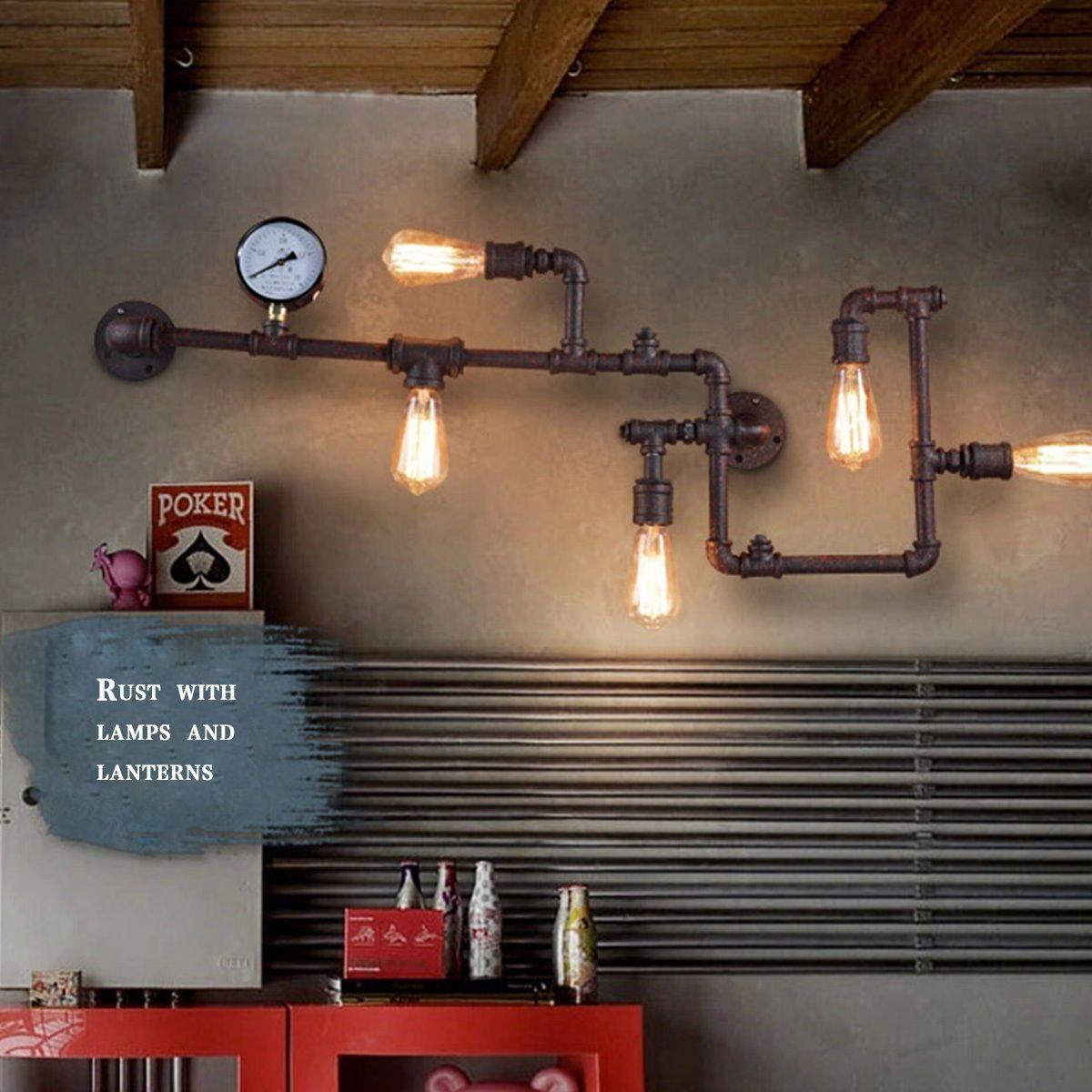 Industrial Lighting Lighting Rustic Light Steampunk: Vintage Loft Industrial Steampunk Wall Lamp Retro Light