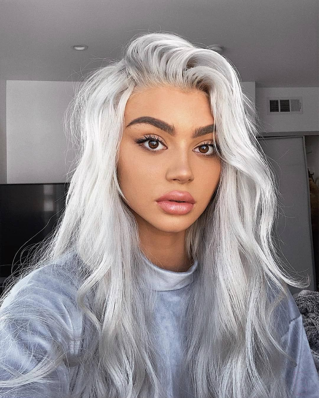 Salon Republic On Instagram When Your Hair Becomes Its Own Super Hero Silver Storm Color Ashleyhairandma White Hair Color Hair Styles Hair Color