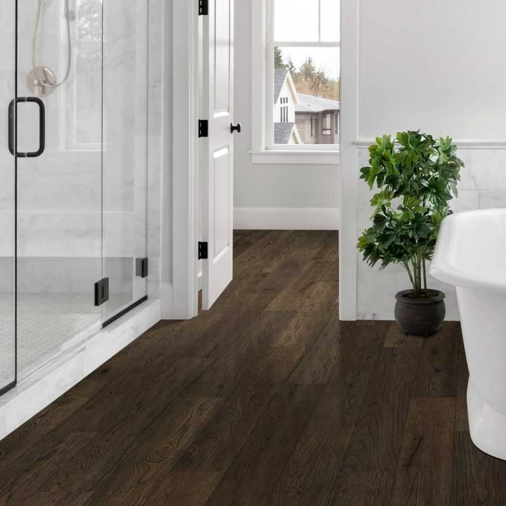 Sure+ Waterproof Flooring Sepia Brown Hickory 6.5mmT x 6