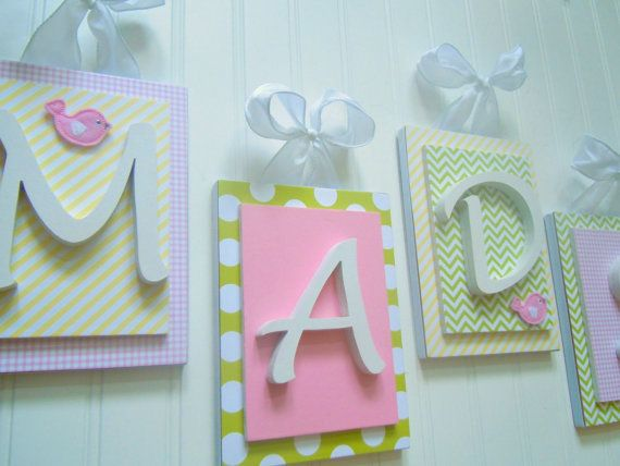 Nursery Letters Custom Initials Personalized Wooden Letters